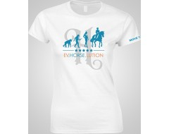 TSHIRT femme blanc équitation
