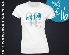 TSHIRT women horse riding white