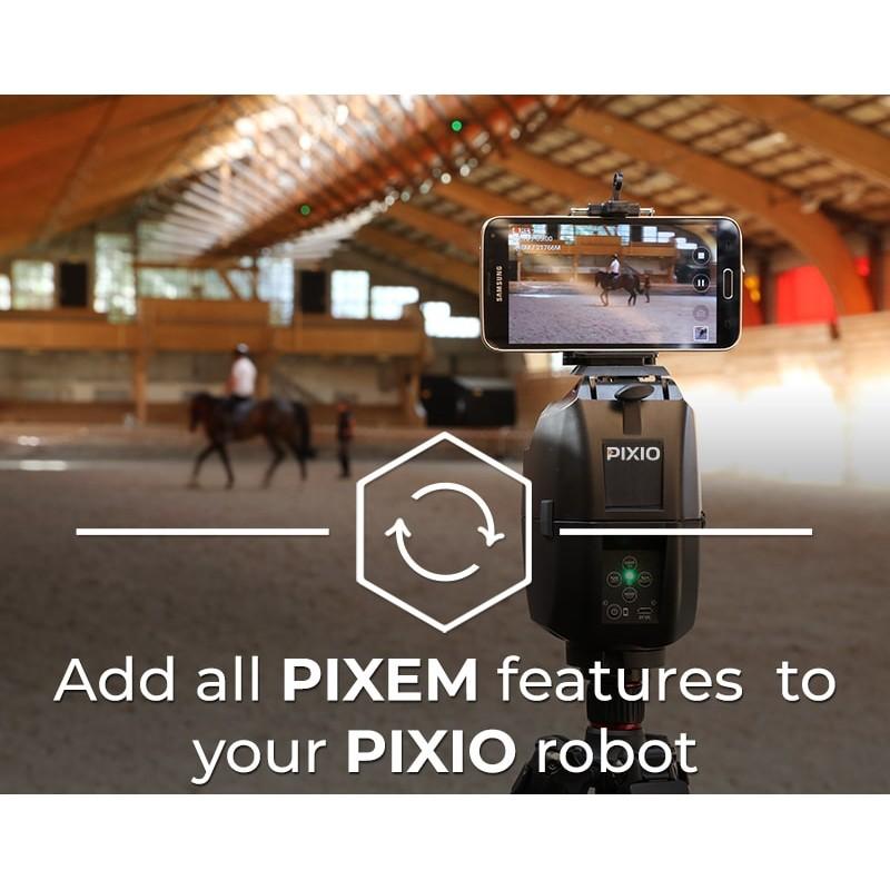 L'extension vous offre toutes les fonctionalités du PIXEM sur votre robot PIXIO