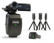 This pack includes a complet PIXIO robot cameraman (with the robot, the watch and the 3 beacons) and a SONY CX240 camera