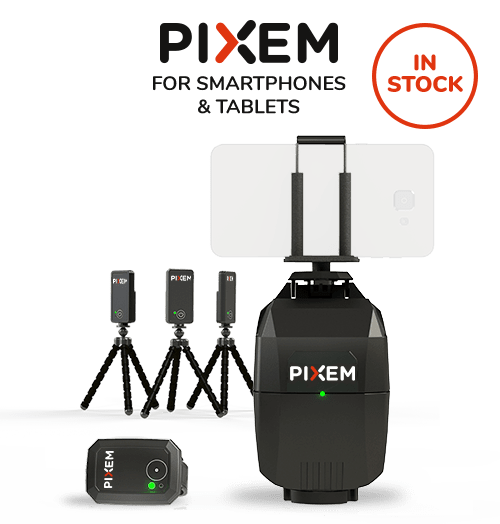 PIXEM auto-follow camera for smartphone and tablet
