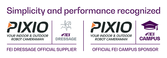 PIXIO is an Official Supplier of the FEI Dressage an Official Sponsor of the FEI Campus