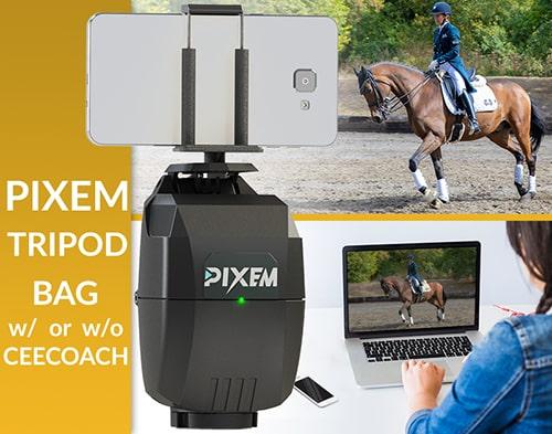 El paquete de lecciones en vivo PIXEM incluye un dispositivo PIXEM completo, un trípode y una bolsa de transporte.