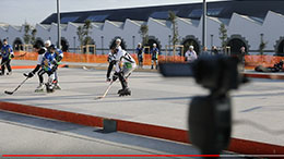 Roller Hockey filmed by the PIXIO robot cameraman