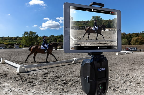 Horse Rider Dressage filmed by PIXEM during a remote live lesson