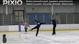 PIXIO robot films Ice Skating (USA)