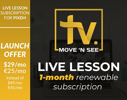 Abonnement au service LIVE LESSON - un mois renouvelable automatiquement