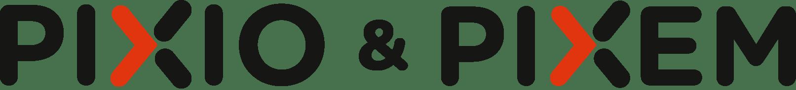 PIXIO and PIXEM auto-follow camera logo