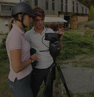 PAMFOU dressage use the PIXIO robot cameraman to film automatically equestrian sports