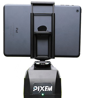use your smartphone or tablet with PIXEM auto-follow camera