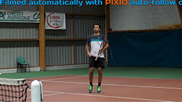 TENNIS filmed by PIXIO auto follow camera INDOOR